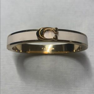 Coach Bracelet in Gold and White